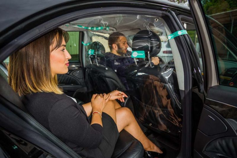 Driver Bubble taxi protections screen for passengers and drivers