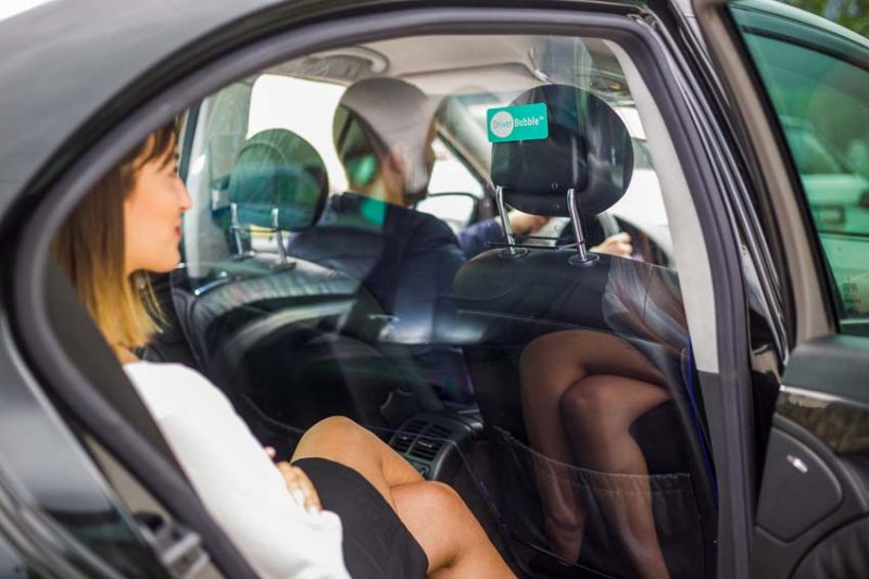 Driver Bubble Shield taxi protection shield between passenger and driver